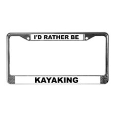 Cute Kayak License Plate Frame