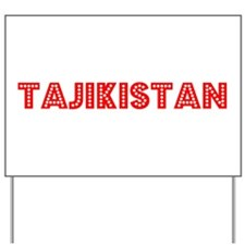 Retro Tajikistan (Red) Yard Sign