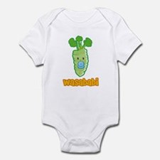 Wasababi Onesie- Blue or Pink Pacifier