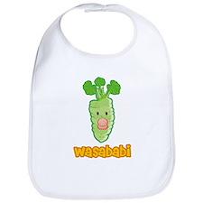 Wasababi Bib- Blue or Pink Pacifier