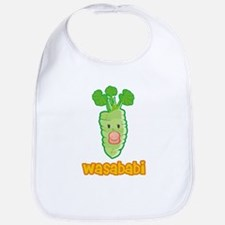Wasababi Bib- Blue or Pink Pacifier