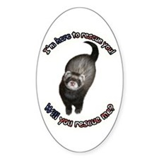 Rescue You Oval Decal