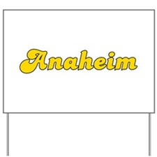Retro Anaheim (Gold) Yard Sign