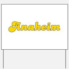 Retro Anaheim (Gold) Yard Sign