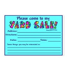 Come to my Yard Sale Postcards (Package of 8)
