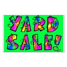 Garage Sale/ Yard Sale Rectangle Decal