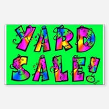Garage Sale/ Yard Sale Rectangle Decal