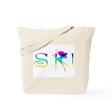 SKI RAINBOW Tote Bag