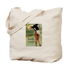 Cute Sports golf Tote Bag
