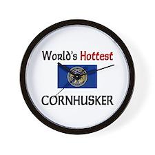 World's Hottest Cornhusker Wall Clock