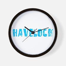 Havelock Faded (Blue) Wall Clock