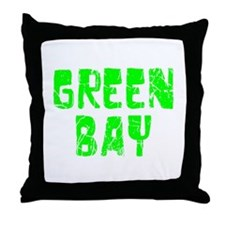 Green Bay Faded (Green) Throw Pillow
