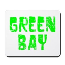 Green Bay Faded (Green) Mousepad