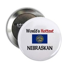 "World's Hottest Nebraskan 2.25"" Button"
