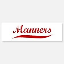 Manners (red vintage) Bumper Bumper Bumper Sticker