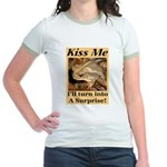 Kiss A Surprise Jr. Ringer T-Shirt
