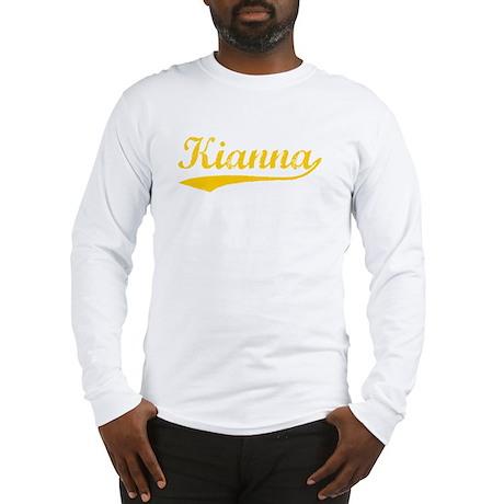 Vintage Kianna (Orange) Long Sleeve T-Shirt