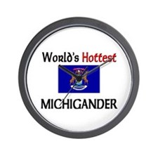 World's Hottest Michigander Wall Clock