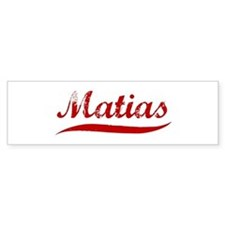 Matias (red vintage) Bumper Bumper Bumper Sticker