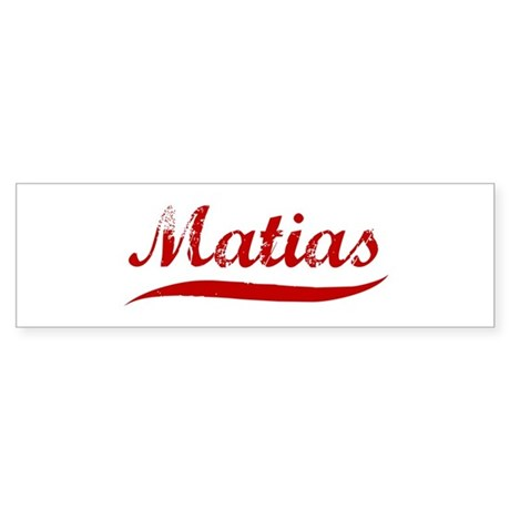 Matias (red vintage) Bumper Sticker