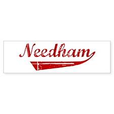 Needham (red vintage) Bumper Bumper Sticker