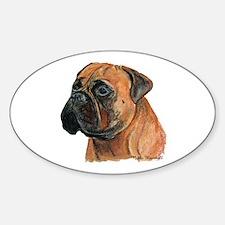 Funny Bullmastiffs Sticker (Oval)
