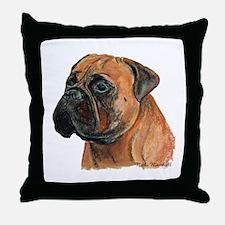 Funny Mastiff art Throw Pillow