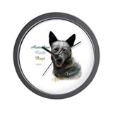 Australian stumpy cattle dog Wall Clocks