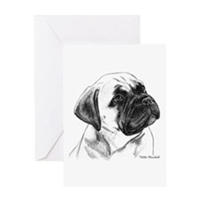 Cute Bullmastiff Greeting Card
