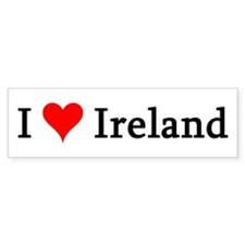 I Love Ireland Bumper Bumper Sticker