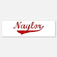 Naylor (red vintage) Bumper Bumper Bumper Sticker