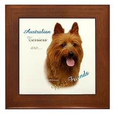 Aussie Terrier Best Friend1 Framed Tile