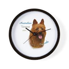 Aussie Terrier Best Friend1 Wall Clock