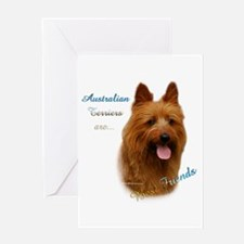 Aussie Terrier Best Friend1 Greeting Card
