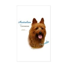 Aussie Terrier Best Friend1 Rectangle Decal