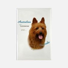 Aussie Terrier Best Friend1 Rectangle Magnet (10 p