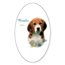 Beagle Best Friend1 Oval Decal