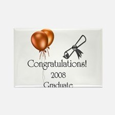 Congratulations! 2008 Design Rectangle Magnet (10