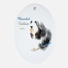 Bearded Best Friend1 Oval Ornament