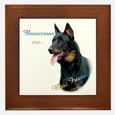 Beauceron Best Friend1 Framed Tile
