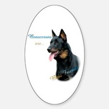 Beauceron Best Friend1 Oval Decal