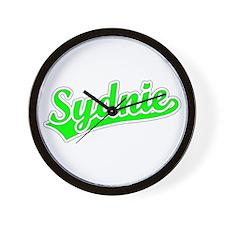 Retro Sydnie (Green) Wall Clock
