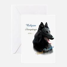 Belgian Sheep Best Friend1 Greeting Card