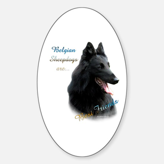 Belgian Sheep Best Friend1 Oval Decal