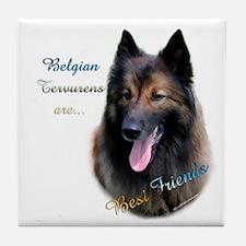 Terv Best Friend1 Tile Coaster