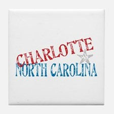 Charlotte North Carolina Retro Tile Coaster