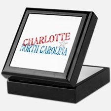 Charlotte North Carolina Retro Keepsake Box