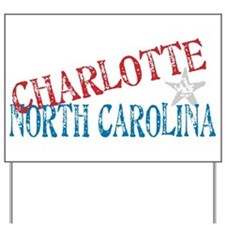 Charlotte North Carolina Retro Yard Sign