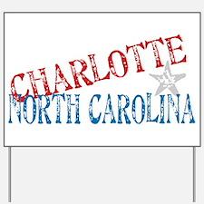 Charlotte North Carolina Retro Yard Sign