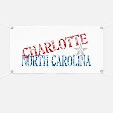 Charlotte North Carolina Retro Banner